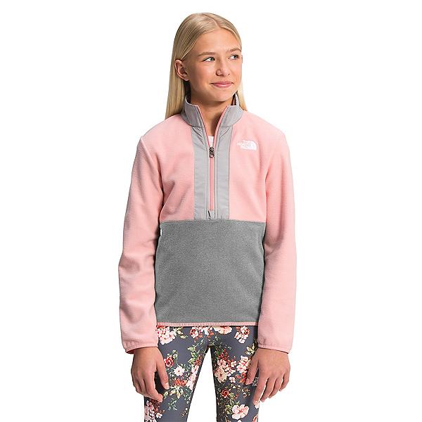 The North Face Glacier 1/4 Zip Girls Midlayer 2022, Peach Pink, 600