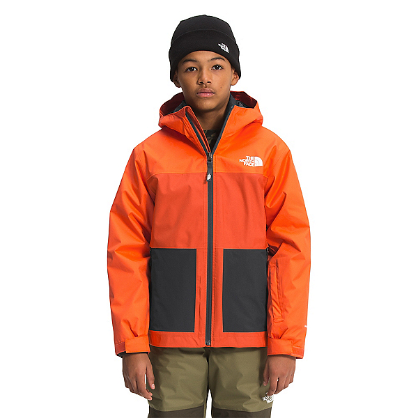 The North Face Freedom Triclimate Boys Ski Jacket 2022, Red Orange- Burnt Ochre, 600
