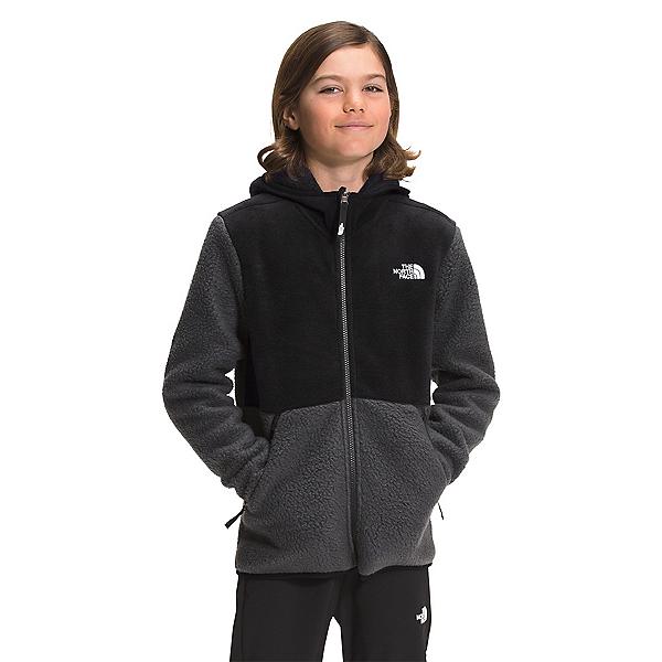 The North Face Forrest Full Zip Hooded Boys Jacket 2022, Asphalt Grey, 600