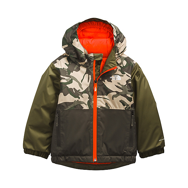The North Face Snowquest Insulated Toddler Boys Ski Jacket 2022, New Taupe Green Explorer Camo, 600