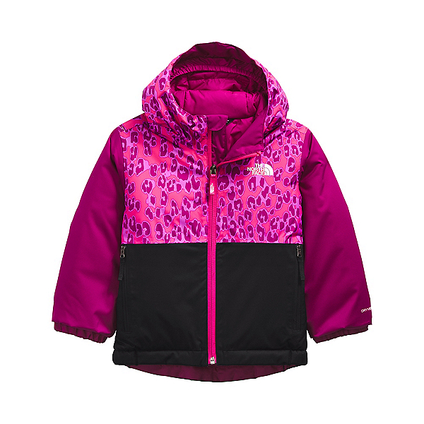 The North Face Snowquest Insulated Toddler Girls Ski Jacket 2022, Cabaret Pink Leopard Small Print, 600