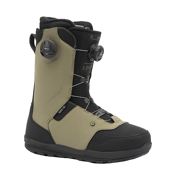 Ride Lasso Boa Coiler Snowboard Boots 2022, Olive, 600
