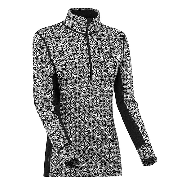 Kari Traa Rose Wool Half Zip Womens Long Underwear Top 2022, Black, 600