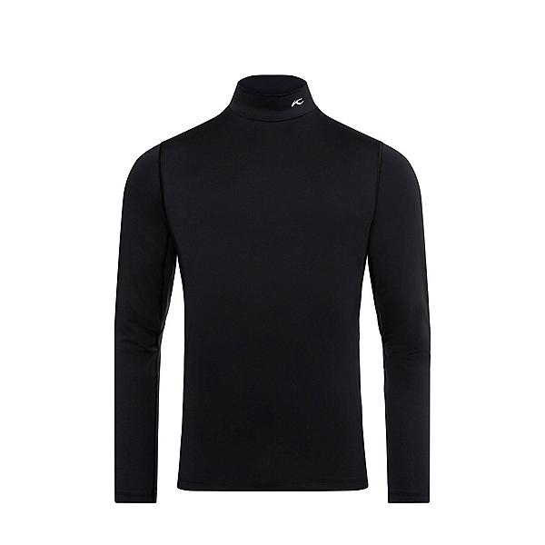KJUS Baselayer Turtleneck Mens Long Underwear Top 2022, Black, 600