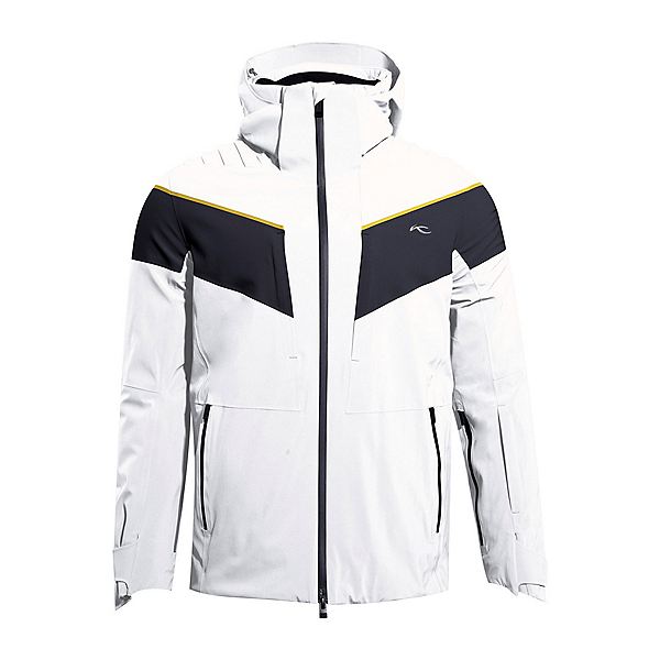 KJUS Force Mens Insulated Ski Jacket 2022, White Deep Space, 600
