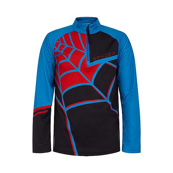 Spyder Web Zip T-Neck Kids Long Underwear Top 2022, Black, 600
