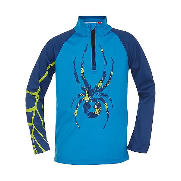 Spyder Bug Zip T-Neck Kids Long Underwear Top 2022, Coast, 600