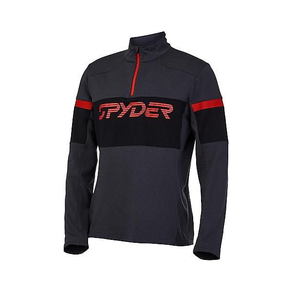 Spyder Speed Half Zip Pullover Mens Mid Layer 2022, Ebony, 600