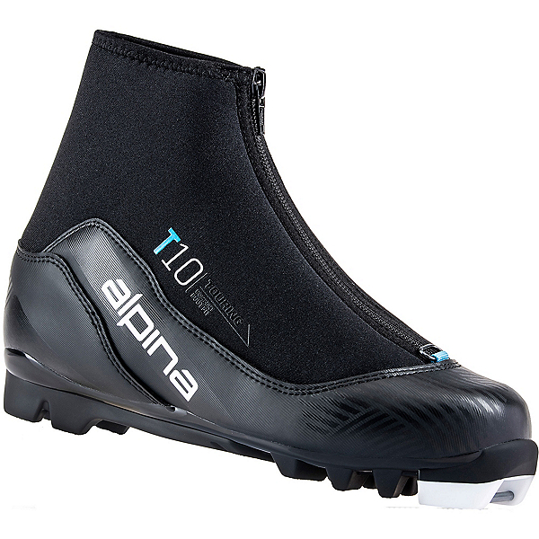 Alpina T 10 Eve Womens NNN Cross Country Ski Boots 2022, Black-Blue, 600