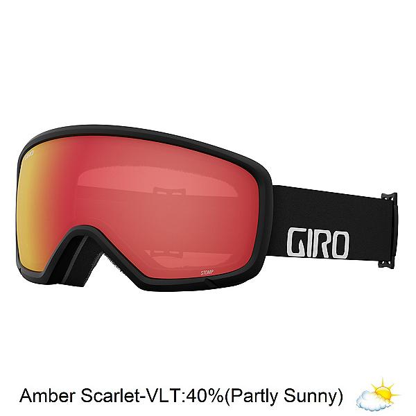 Giro Stomp Kids Goggles 2022, Black Wordmark-Amber Scarlet, 600