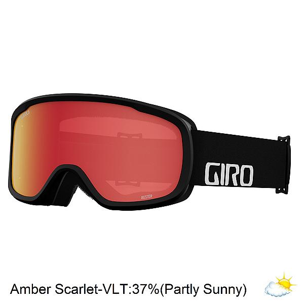 Giro Buster Kids Goggles 2022, Black Wordmark-Amber Scarlet, 600