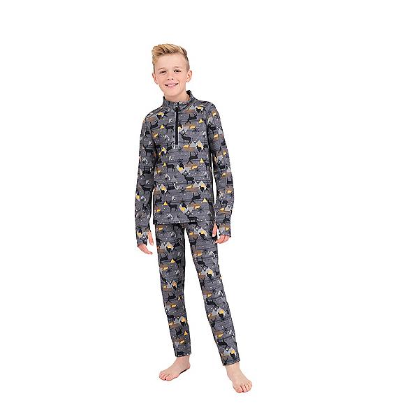 Terramar Ecolator 3.0 Half Zip Kids Long Underwear Top 2022, Moose Tracks, 600