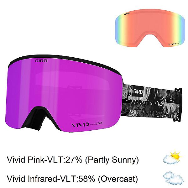 Giro Ella Womens Goggles 2022, Black White Data Mosh-Vivid Pink + Bonus Lens, 600