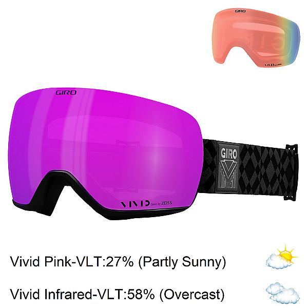 Giro Lusi Womens Goggles 2022, Black Limitless-Vivid Pink + Bonus Lens, 600