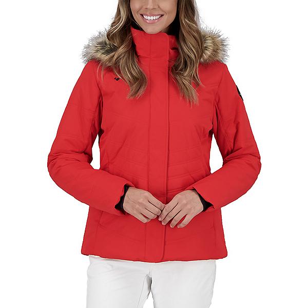 Obermeyer Tuscany II Faux Fur Womens Insulated Ski Jacket 2022, Read My Lips, 600
