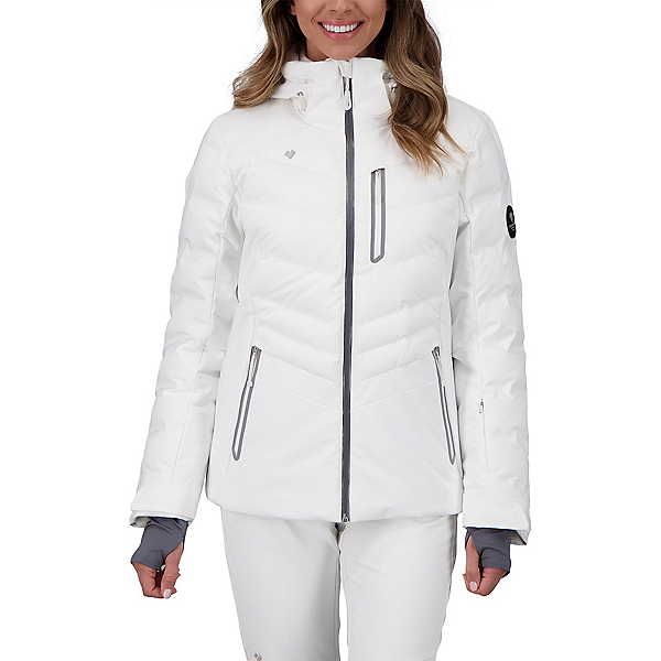Obermeyer Cosima Down Womens Insulated Ski Jacket 2022, White, 600