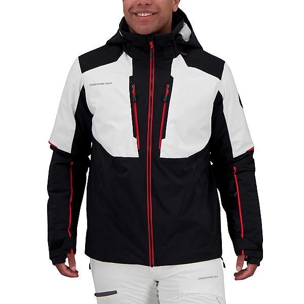 Obermeyer Foundation Mens Insulated Ski Jacket 2022, Black, 600