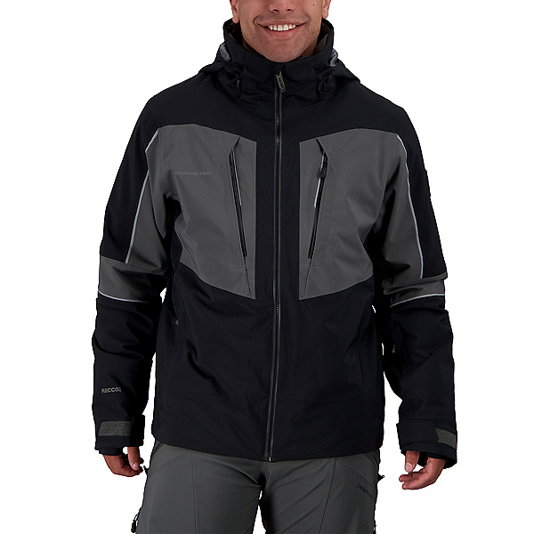 Obermeyer Charger - Tall Mens Insulated Ski Jacket 2022, Black, 600