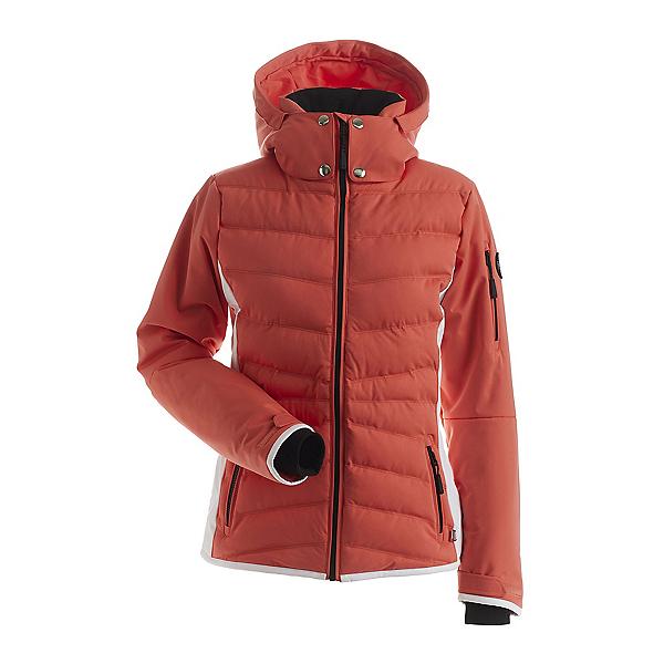 NILS Bianca Womens Insulated Ski Jacket 2022, Tangerine-White, 600