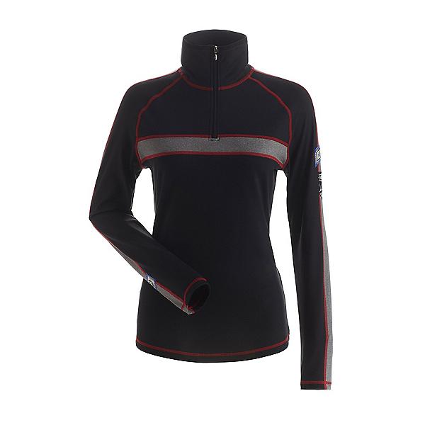 NILS Max Womens Long Underwear Top 2022, Black-Graphite-Red, 600