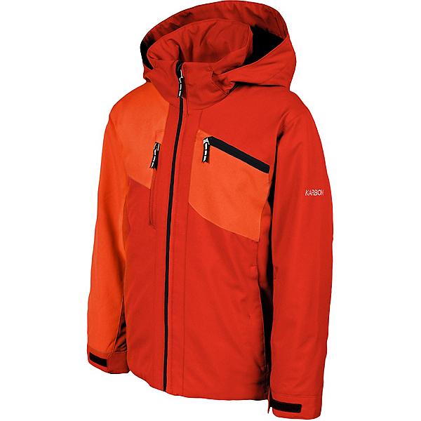 Karbon Hudson Boys Ski Jacket 2022, Toro Lava Jet Black, 600