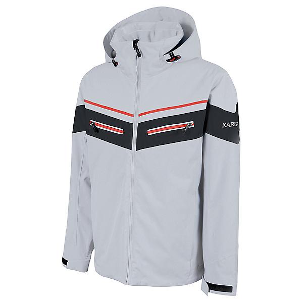 Karbon Neon Mens Insulated Ski Jacket 2022, Glacier Black Red, 600