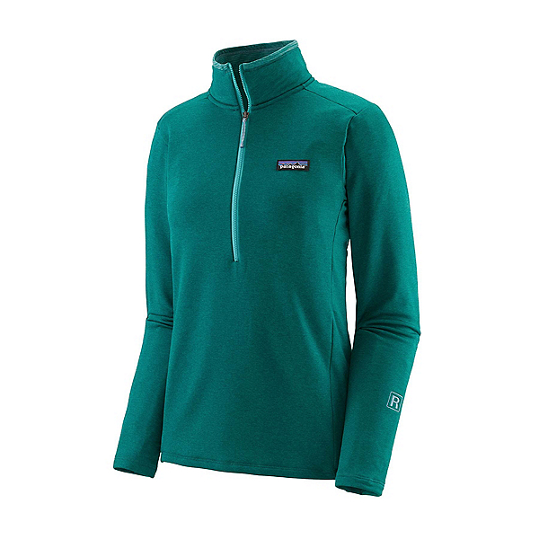 Patagonia R1 Daily Zip Neck Womens Mid Layer 2022, Borealis Green-Light Borealis Green X Dye, 600