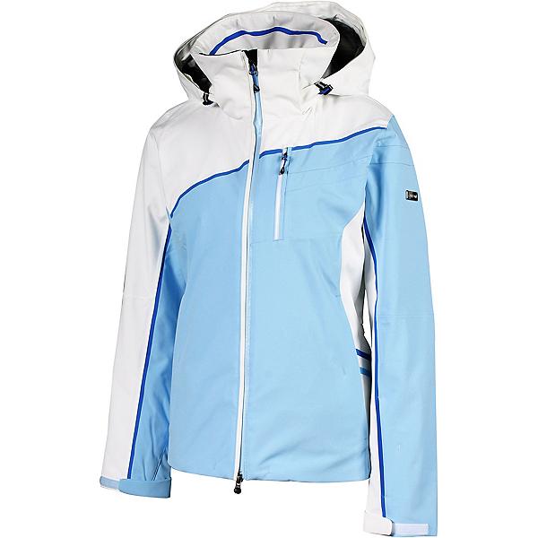 Karbon Opal Womens Insulated Ski Jacket 2022, Iceburg Arctic White Royal Blue, 600