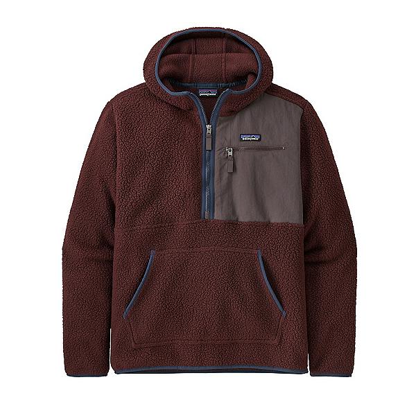 Patagonia Retro Pile Pullover Mens Fleece 2022, Dark Ruby, 600