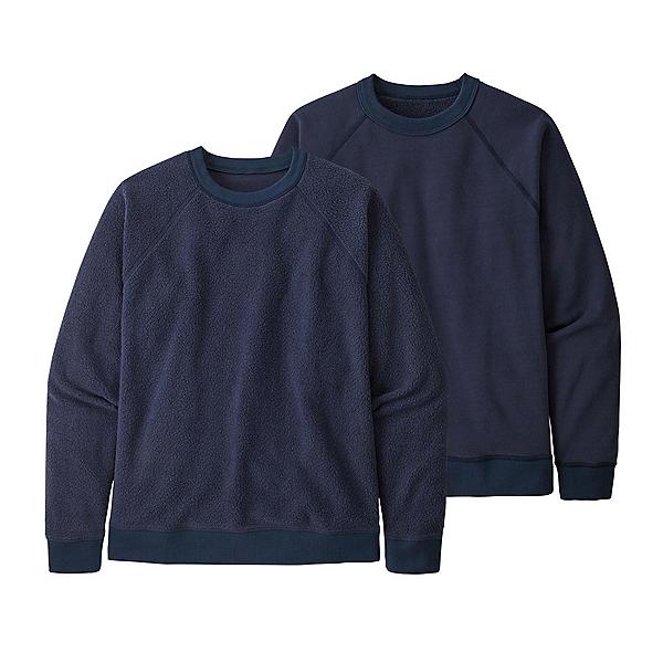 Patagonia Reversible Shearling Crew Sweatshirt 2022, New Navy, 600