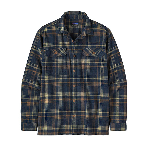 Patagonia Organic Cotton Midweight Fjord Mens Flannel Shirt 2022, Drifted: New Navy, 600