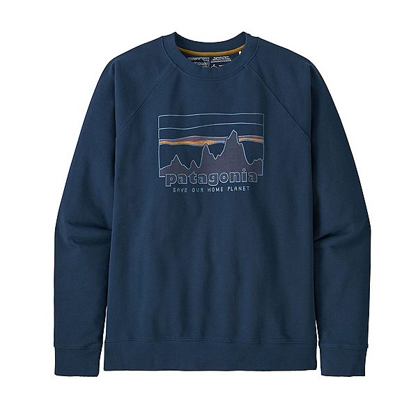 Patagonia 73 Skyline Regenerative Organic Pilot Cotton Crew Mens Sweatshirt 2022, Tidepool Blue, 600