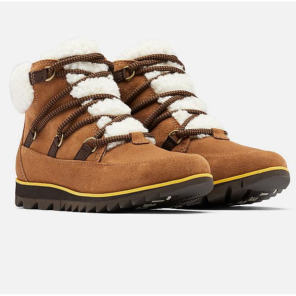 Sorel Harlow Lace Cozy Womens Boots 2022, Velvet Tan, Blackened Brown, 600