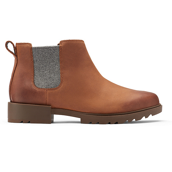 Sorel Emilie II Chelsea Womens Boots 2022, Dark Amber, Tobacco, 600