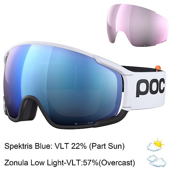 POC Zonula Clarity Comp Goggles 2022, Hydrogen White-Spektris Blue + Bonus Lens, 600