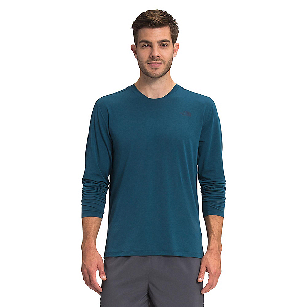 The North Face Wander Long Sleeve Mens Mid Layer 2022, Monterey Blue Heather, 600
