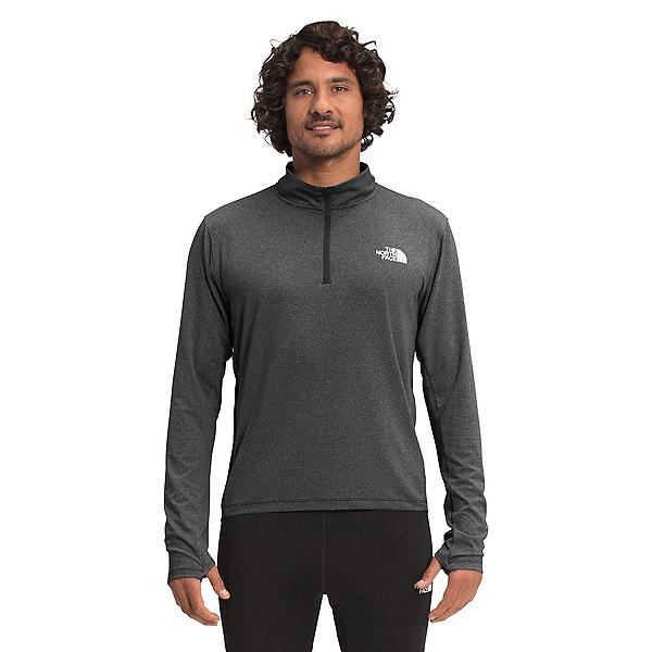 The North Face Riseway Half Zip Mens Long Underwear Top 2022, TNF Black Heather, 600