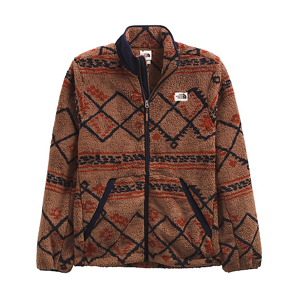 The North Face Printed Campshire Full Zip Mens Fleece 2022, Pinecone Brown Kilim Geo 3, 600