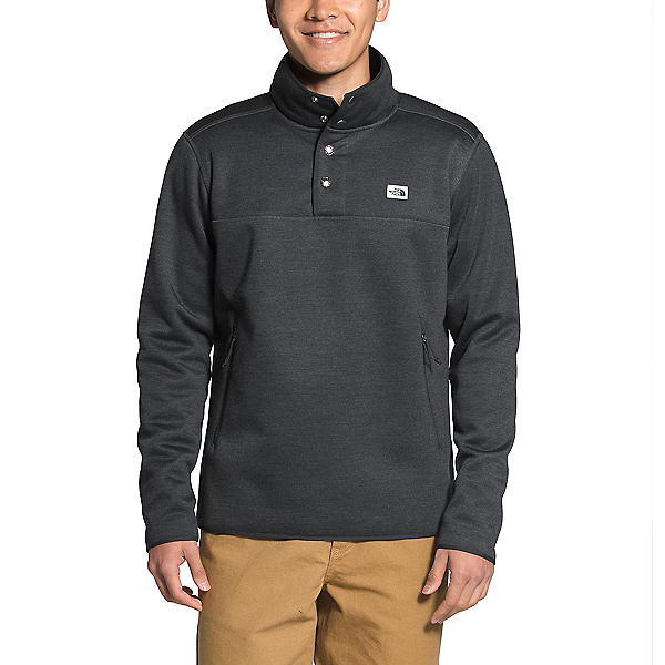 The North Face Sherpa Patrol 1/4 Snap Pullover Mens Sweater 2022, Asphalt Grey White Heather, 600