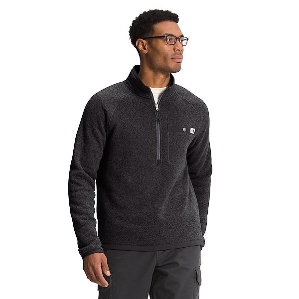 The North Face Gordon Lyons 1/4 Zip Mens Sweater 2022, TNF Black Heather, 600