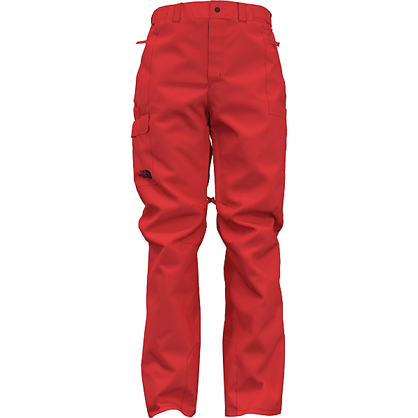 The North Face Freedom Insulated Long Mens Ski Pants 2022, Fiery Red, 600