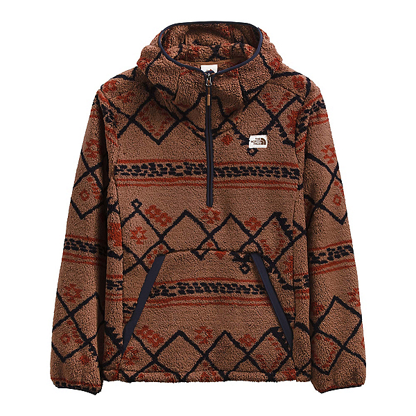 The North Face Campshire Pullover Mens Hoodie 2022, Pinecone Brown Kilim Geo 3, 600