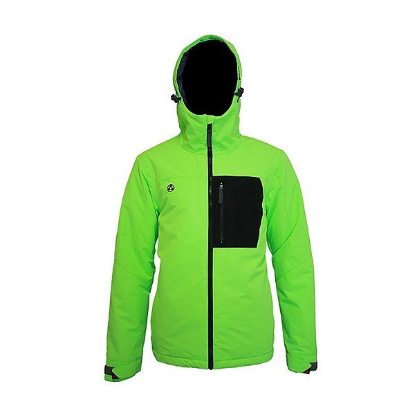 Turbine Patch Mens Insulated Snowboard Jacket 2022, Atomic Green, 600