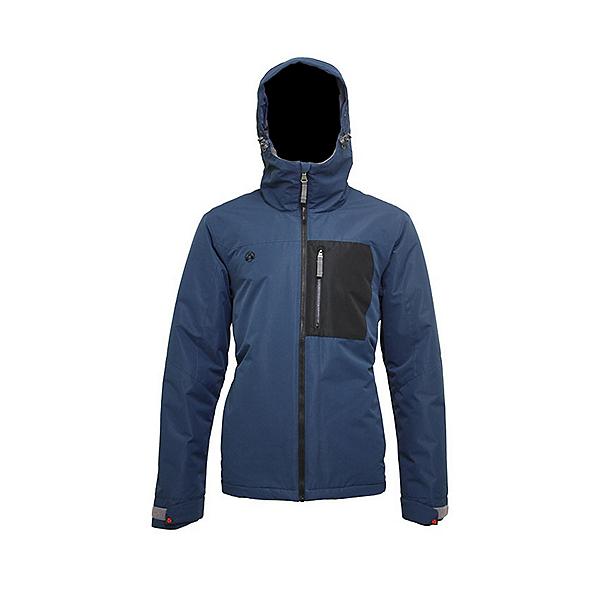 Turbine Patch Mens Insulated Snowboard Jacket 2022, Mako Blue, 600