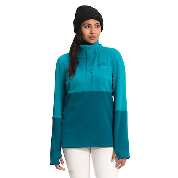 The North Face Tagen 1/4 Zip Fleece Womens Mid Layer 2022, Enamel Blue-Deep Lagoon, 600