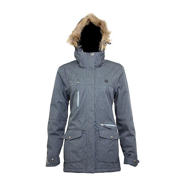 Turbine Powday Womens Insulated Snowboard Jacket 2022, Bluestone, 600