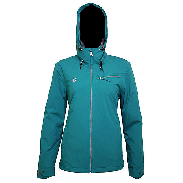 Turbine Carver Womens Insulated Snowboard Jacket 2022, Quetzal Green, 600
