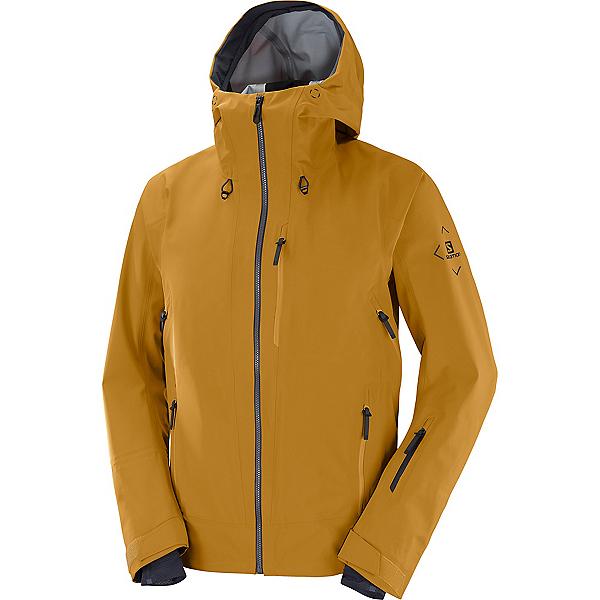 Salomon Outlaw 3L Mens Shell Ski Jacket 2022, Bronze Brown, 600