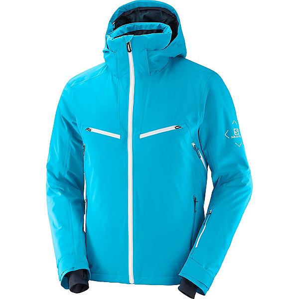 Salomon Brilliant Jacket Mens Insulated Ski Jacket 2022, Barrier Reef, 600