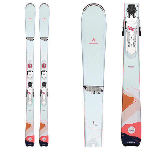 Dynastar E 4x4 3 Womens Skis with Xpress 11 GW Bindings 2022, , 600
